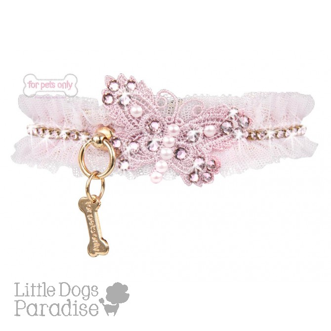 Pink Butterfly Collar