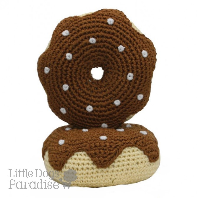 Chocolate Donut Organic Cotton Crochet