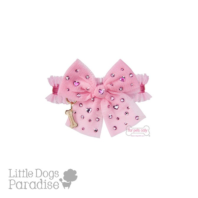Diamond Hearts Collar Rosa