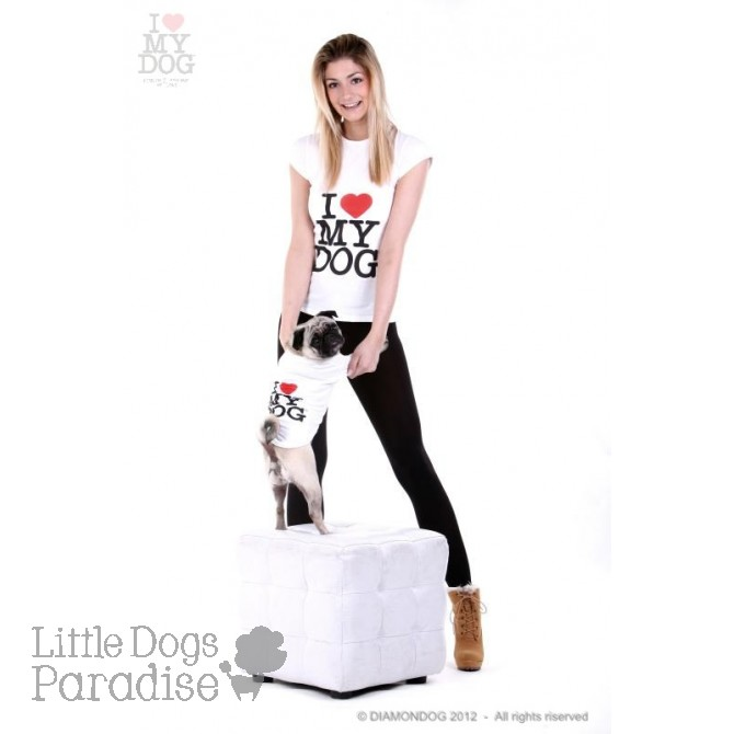 T-Shirt Donna I ♥ My Dog Logo