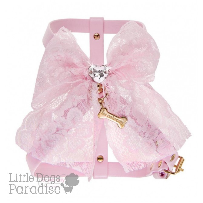 Lace Bow Harness Pink