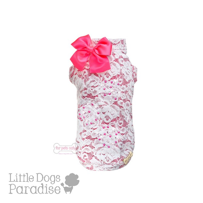 Lace & Roses T-Shirt - Fuxia