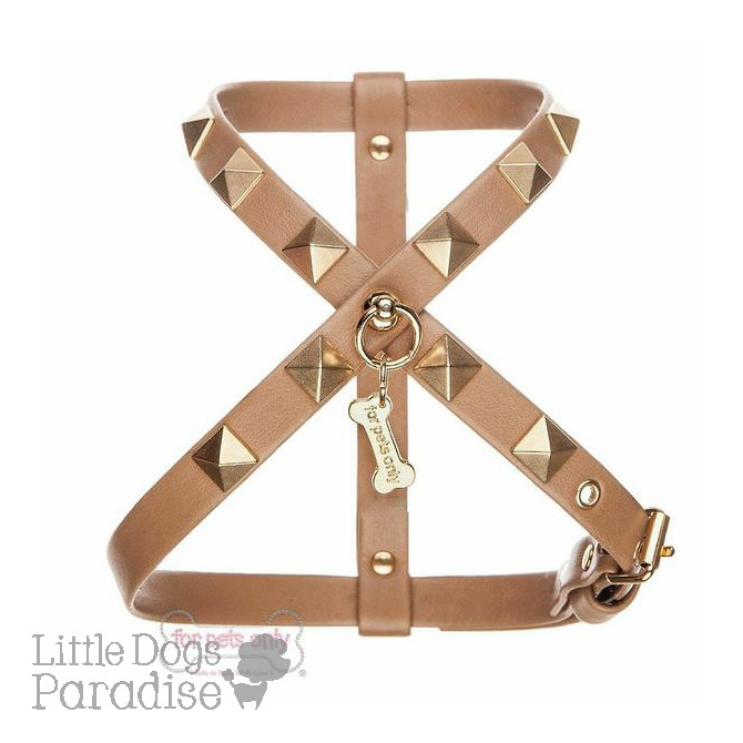 Chic And Stud Harness - Camel