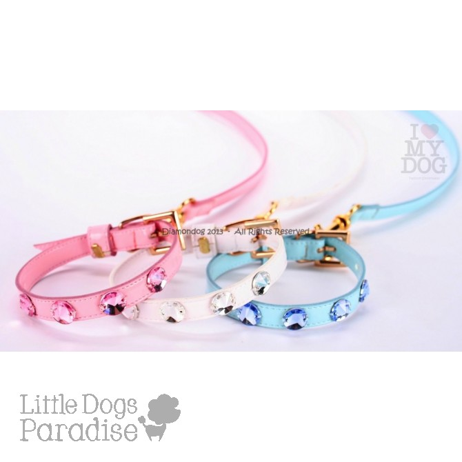 SET Rhinestone Glam Collar & Leash