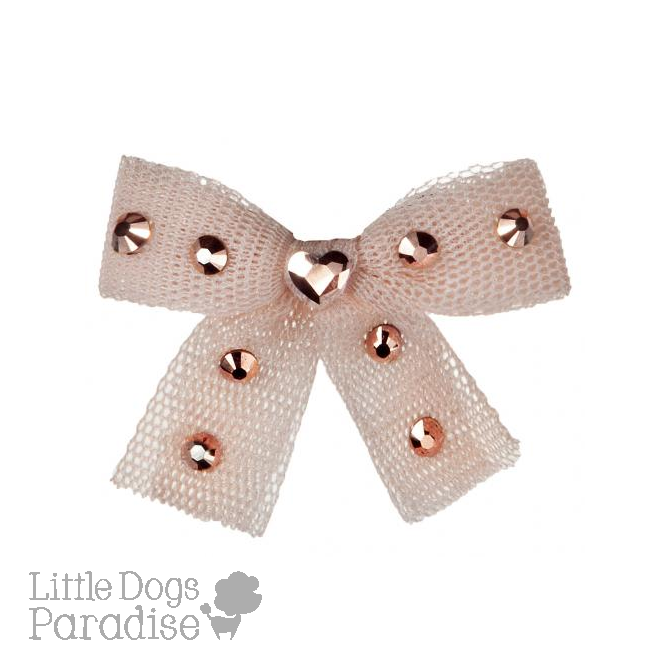 Diamond Hearts Hairclip - Rosa
