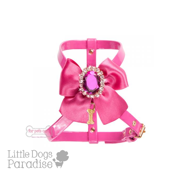 Diamond Love Harness Fuxia
