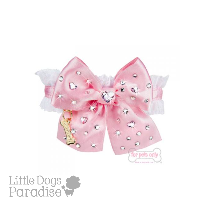 Diamond Hearts Collar - Rosa