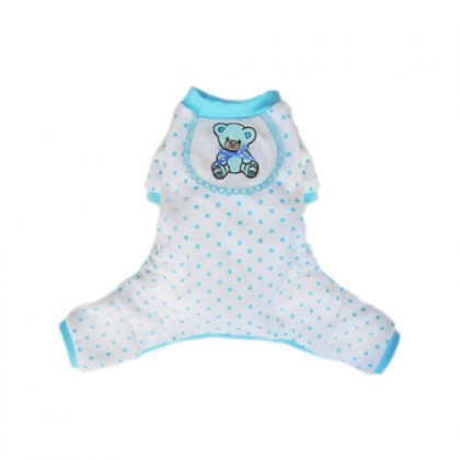 Pajama Teddy Blue