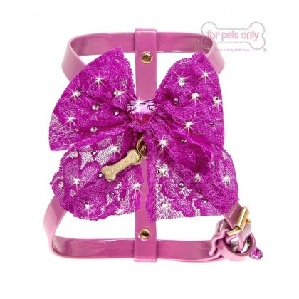Sparkling Bow Fuxia Harness