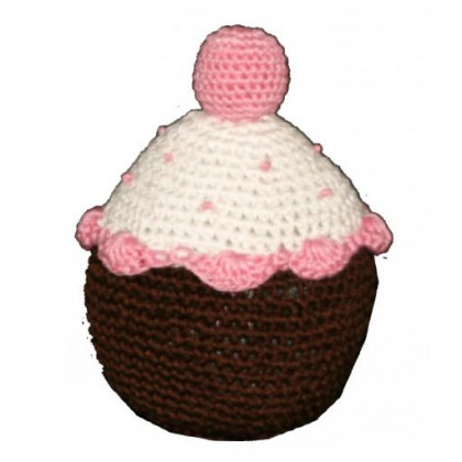 Strawberry Cupcake Organic Cotton Crochet