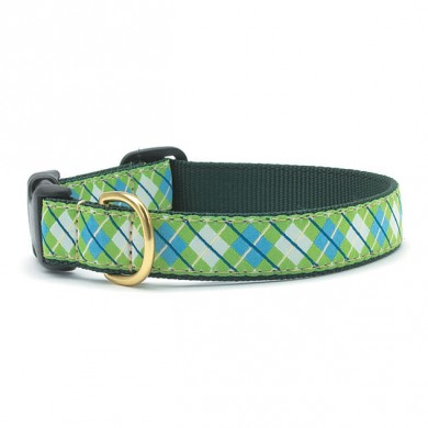 Blue and Green Argyle Collar
