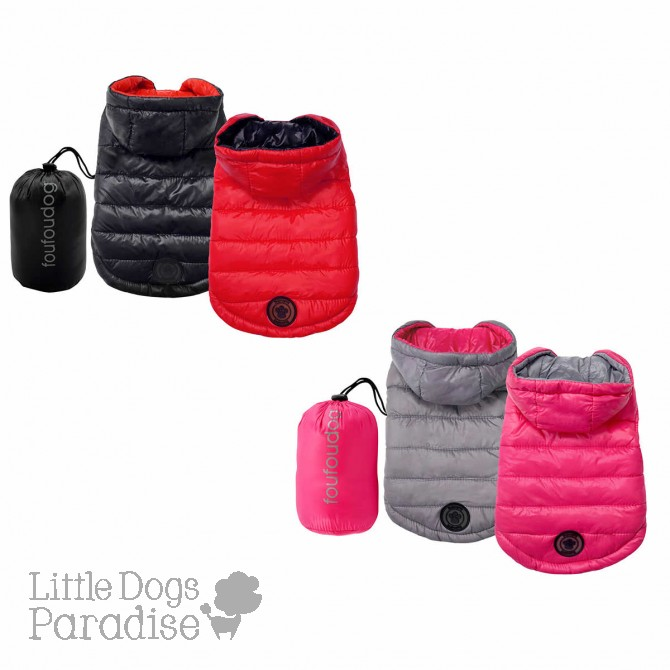 Reversible Puffer Coat with Travel Pouch