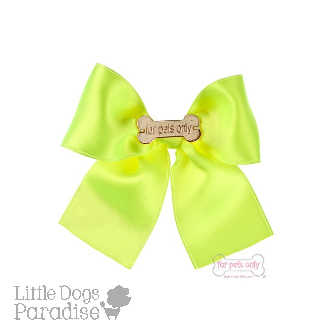 Fluo Bow Leash - Yellow