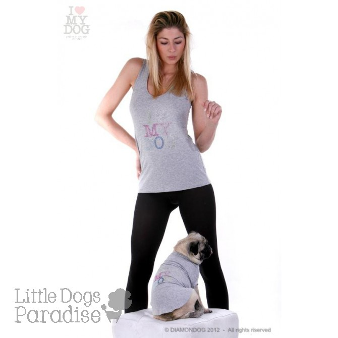 Dog Multicolor Strass T-Shirt