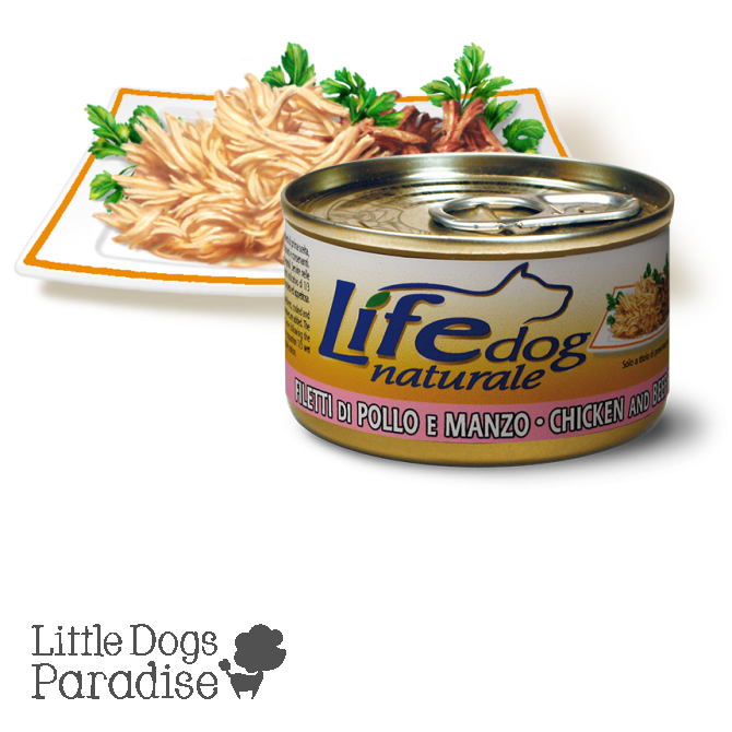 Life Dog Naturale Filetti di Pollo e Manzo 90g