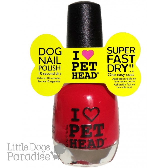 Dog Nail Polish Love Red