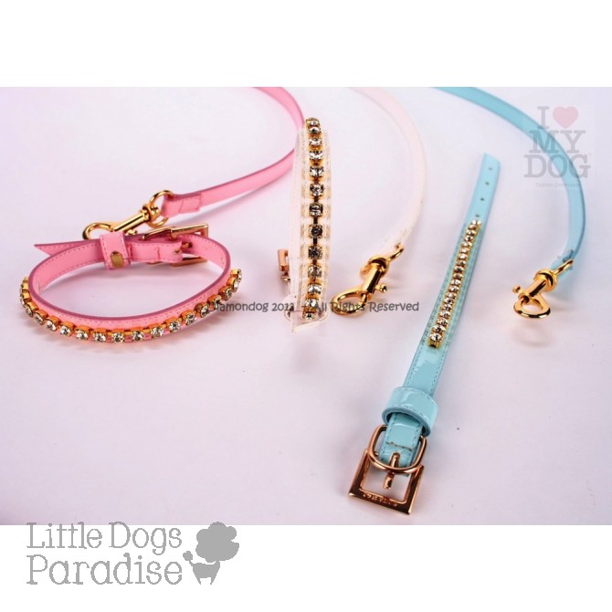 SET Crystal Glam Collar & Leash