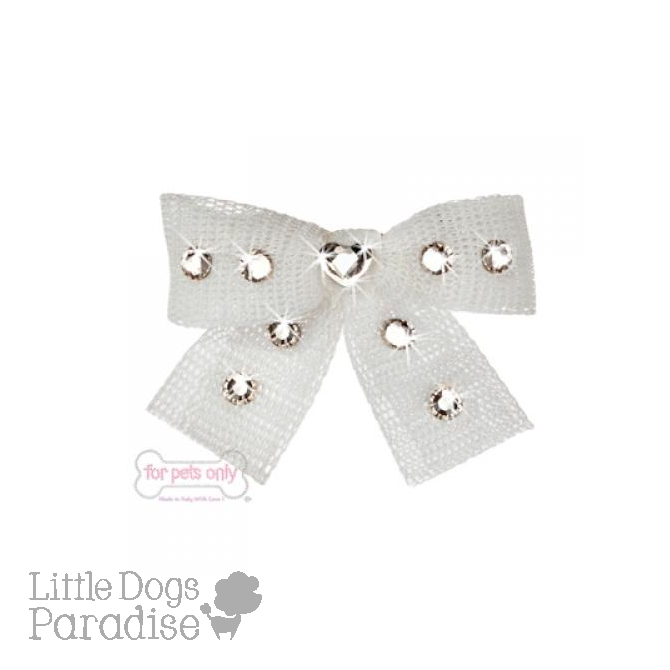 Diamond Hearts Hairclip - Bianco