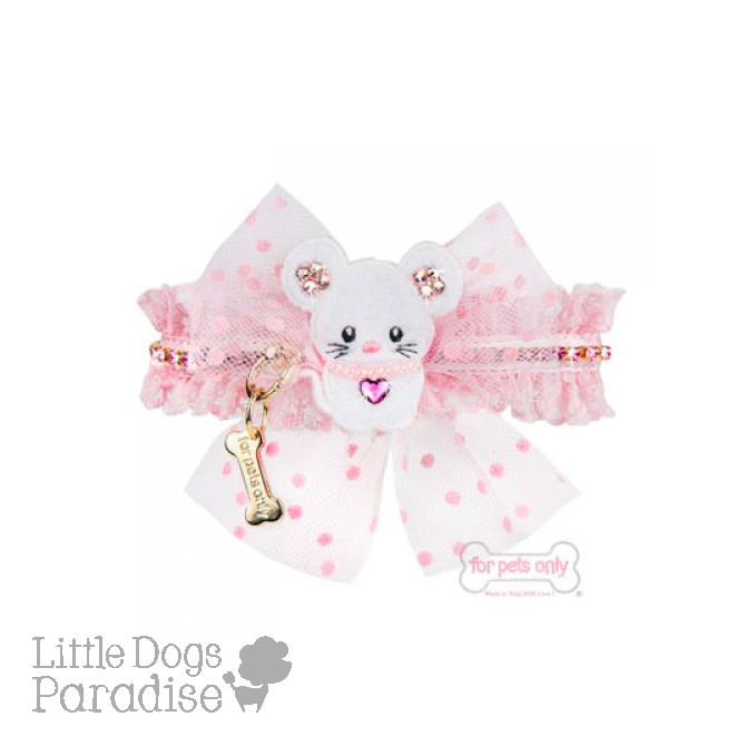 Pink Mouse Love Collar