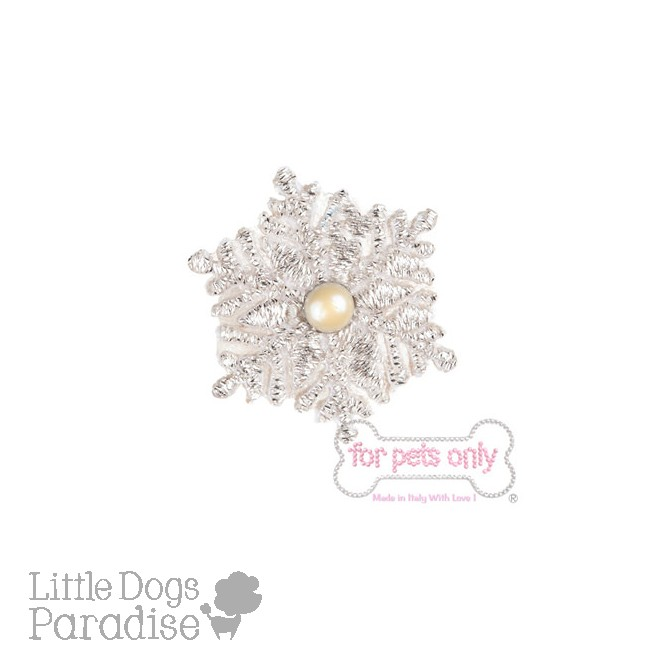 Snowflake White Hairclip