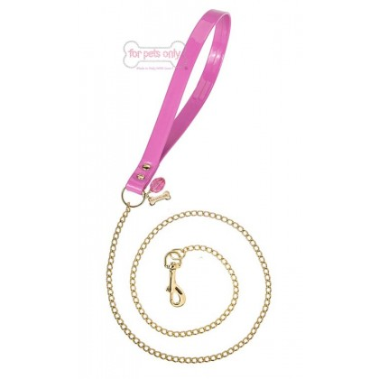 Chain Lead  Fuxia/Gold