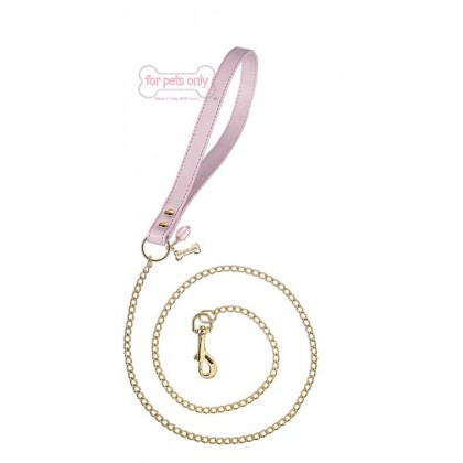 Chain Lead Pink/Gold