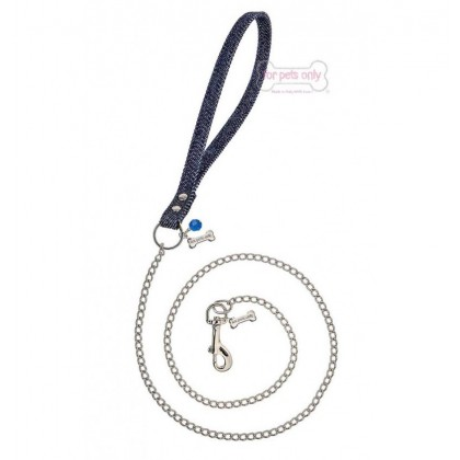 Chain Lead Blue Jeans Silver