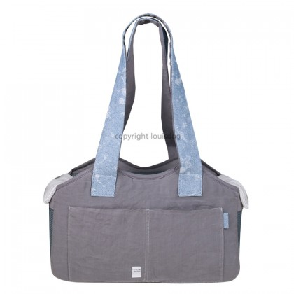 Linen Bag/Denim Strap