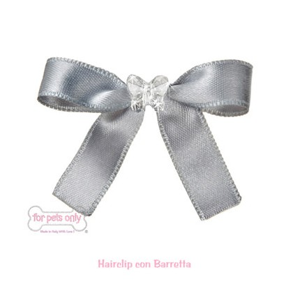 Precious Bow Hairclip - Grey