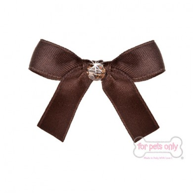Precious Bow Hairclip - Marrone
