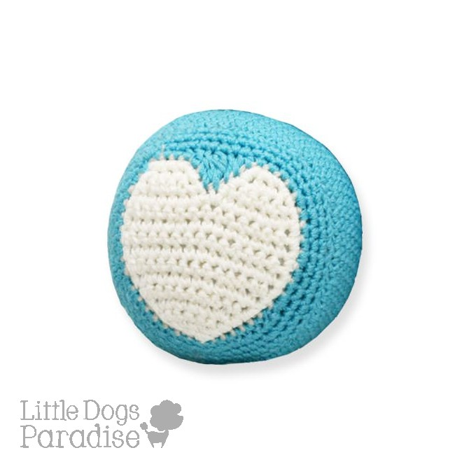 Blue Ball Organic Cotton Crochet