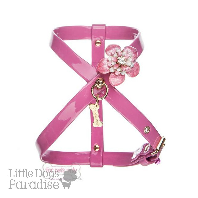 Love Flowers Harness - Fuxia
