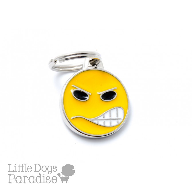 Medaglietta Charms Emoticon Angry