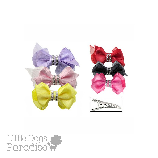 Crystal Centered Hair Bows