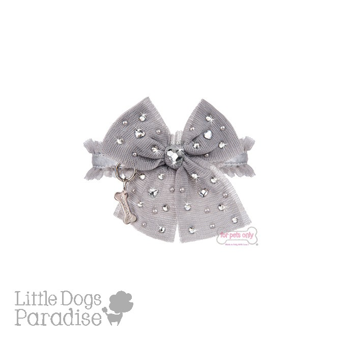 Diamond Hearts Collar Grigio
