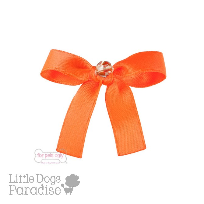 Precious Bow Hairclip - Fluo Orange