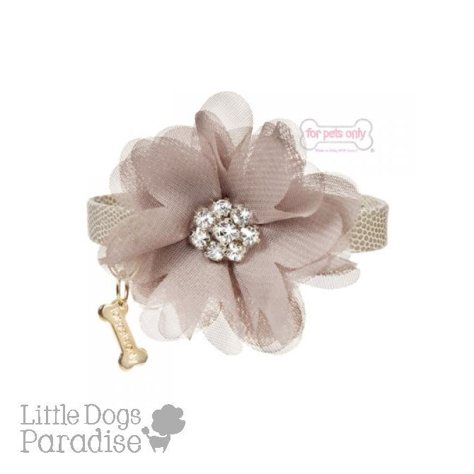 Diamond Flower Collar Beige