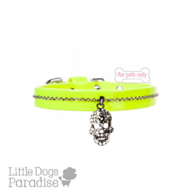 Diamond Skull Collar - Giallo