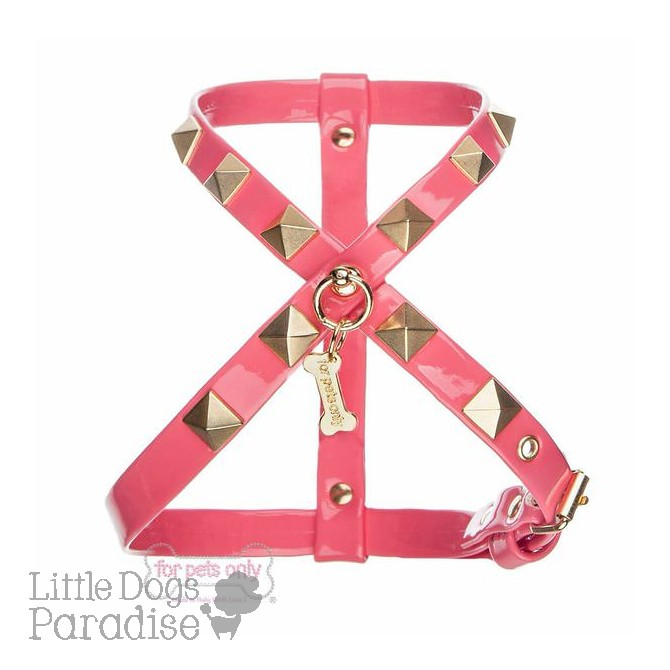Chic And Stud Harness - Fuxia
