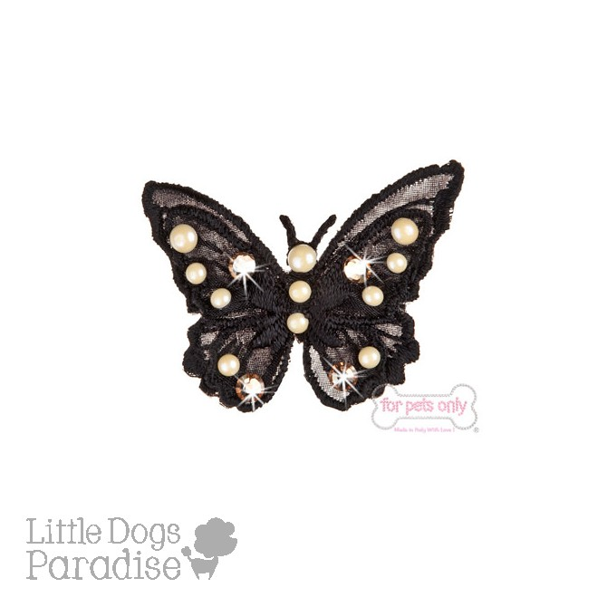 Butterfly Bow Hairclip - Nero