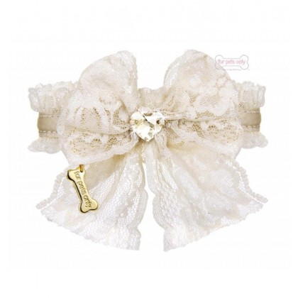 Lace Bow Collar beige