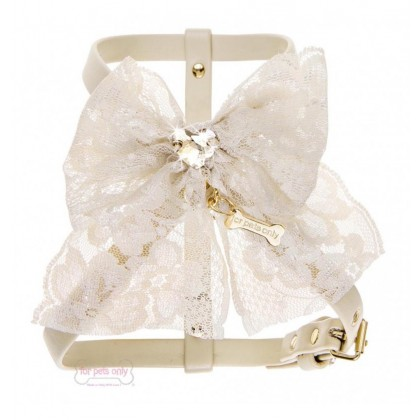 Lace Bow Harness Beige