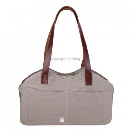 Linen Bag/Leather Strap