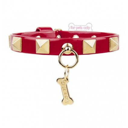 Chic and Stud Collar Red
