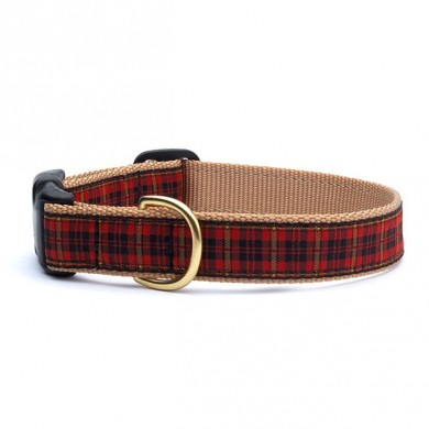 New Red Plaid Collar