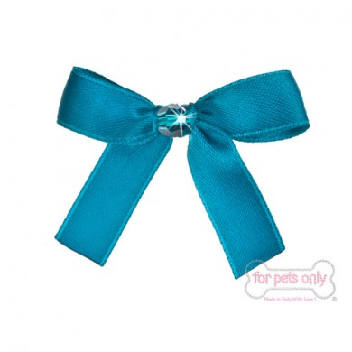 Precious Bow Hairclip - Turchese